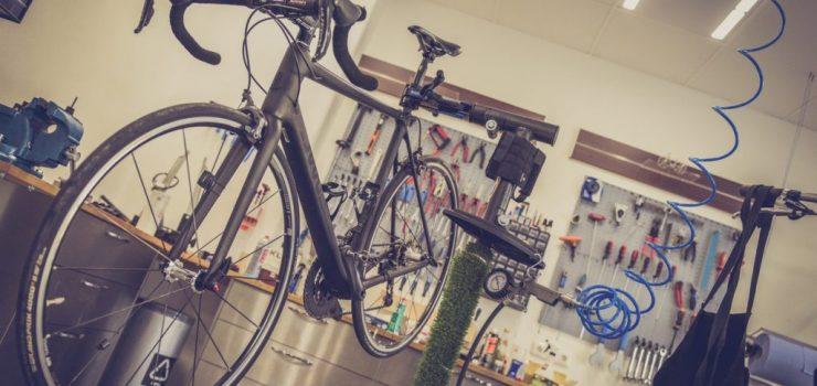 meckar med cykel